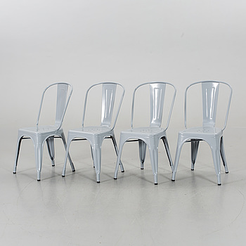 Four 21th century Tolix chairs.