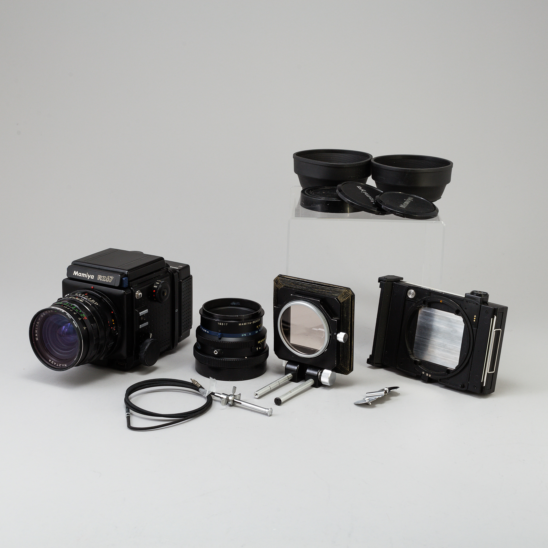 A black Mamiya RZ67 Pro Medium Format Camera Body with sekor