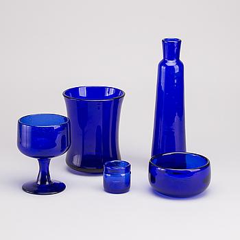 ERIK HÖGLUND, ERIK HÖGLUND, 5 parts of glass.