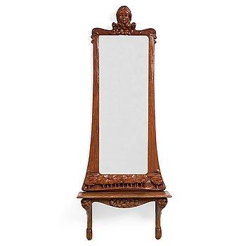 110. JUGEND, spegel med konsolbord.