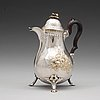 A swedish 18th century parcel-gilt coffee-pot, mark of jacob lampa, stockholm 1777.