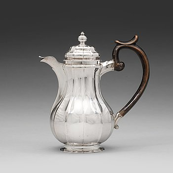 129. A Swedish mid 18th century silver coffee-pot, mark of Wilhelm Andreas Meijer, Stockholm 1746.