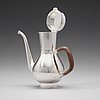 A swedish 20th century silver coffee-pot, mark of sigurd persson, stockholm 1969.