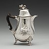 A swedish 18th century silver coffee-pot, mark of andreas rönnov, hälsingborg 1789.