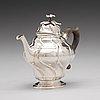 A swedish 18th century parcel-gilt silver tea-pot, mark of johan pettersson berg, norrköping 1760.