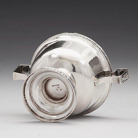 A swedish 18th century silver sugar-bowl, mark of melchior faust, göteborg 1786.