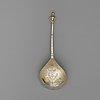 A swedish 17th century silver-gilt spoon, mark of johan johansson, västerås (1605-1654).