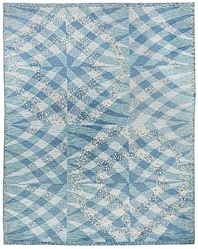 "235. Barbro Nilsson, A CARPET, ""Magdalena blå"", knotted pile, ca 387,5 x 304 cm, signed AB MMF BN."
