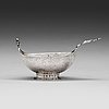 A 17 th century silver brandy-cup, unmaked.