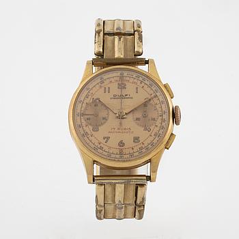 DULFI, Chronographe, armbandsur, 34 mm, kronograf.