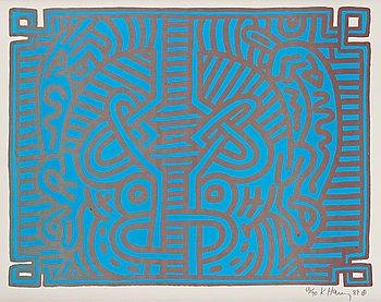 "173. Keith Haring, ""Chocolate Buddah 1""."