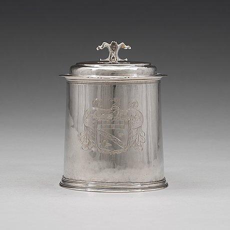 An english 17th century silver tankard, mark of john jackson, london 1689.
