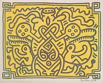 """174. Keith Haring, """"Chocolate Buddha 4""""."""