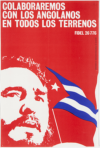 """fidel 26-7-76"", poster, published by departamento de orientation revolucionaria del cc-pcc-1976."