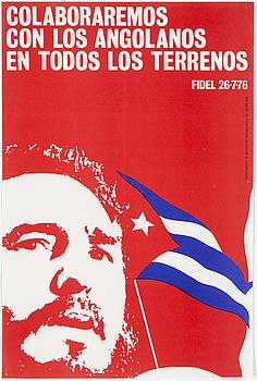 "POLITISK AFFISH, ""FIDEL 26-7-76"", utgiven av Departamento De Orientation Revolucionaria del CC-PCC-1976."