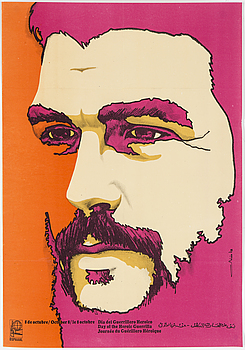 """""""Dia del Guerrillero Heroico"""", OLIVIO MARTINEZ, political poster, 1970s. Published by OSPAAAL."""