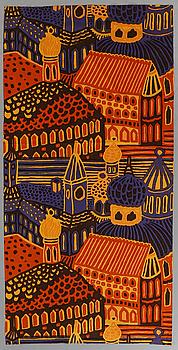 """TEXTILIER, 2 st, """"Kumiseva"""", Katsuji Wakisaka, Marimekko, 1971."""