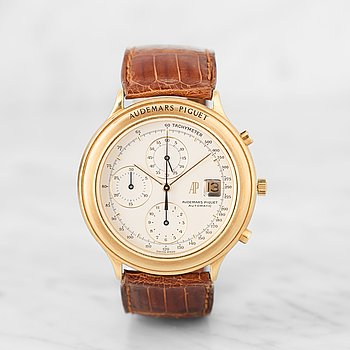"AUDEMARS PIGUET, ""Huitieme"", chronograph, wristwatch, 40,5 mm,"