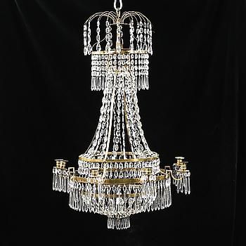 LJUSKRONA, sengustaviansk, omkring år 1800. Höjd ca 100 cm.