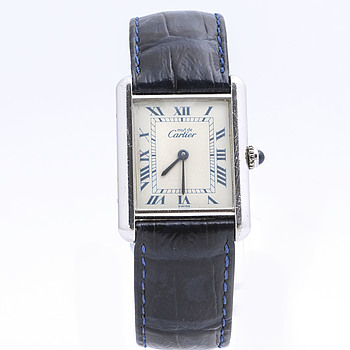 must de CARTIER, Tank Quartz, armbandsur, 23,5 x 23 (31) mm.