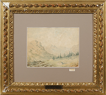 GUSTAF RYDBERG, tillskriven, akvarell, signerad G R.
