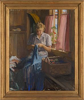 SAM UHRDIN, olja på duk, signerad och daterad -50.
