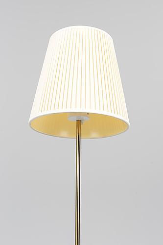 Golvlampa, mässing, fagerhults belysning, 1900-talets mitt.