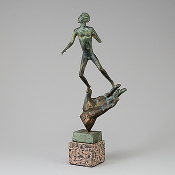 CARL MILLES, CARL MILLES, after, sculpture, bronze, unsigned.