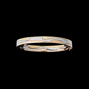 "BRACELET, ""Fusion"", 18K gold in three colours, brilliant cut diamonds."