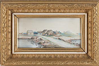 JOHAN VON HOLST, tillskriven, akvarell, otydligt signerad och daterad.