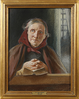 ALF WALLANDER, pastell, signerad och daterad 1901.