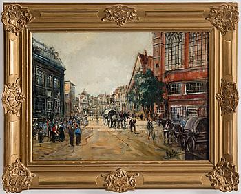 OTTO HAMEL, olja på duk, signerad Otto Hamel.