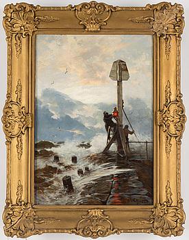 CARL SALTZMANN, olja på duk, signerad C. Saltzmann.