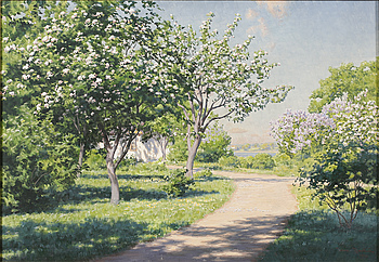 JOHAN KROUTHÉN, oil on canvas, signed and dated 1923.