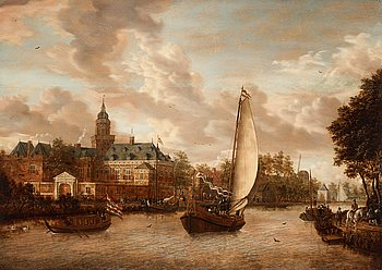 367. Jacobus Storck, A view of the river Vecht with the castle Nijenrode.