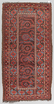 An antique Beshir rug, around  240 x 116 cm.
