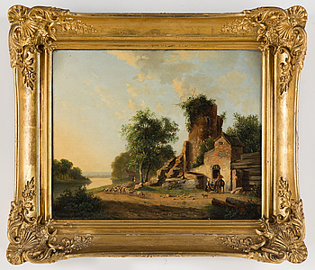 JACOBUS FREUDENBERG, signerad, olja på pannå 35 x 43 cm.