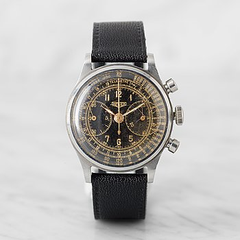 "3. HEUER, ""Big Eyes"", Base 1000 / Telemetre, chronograph, wristwatch, 35 mm,"