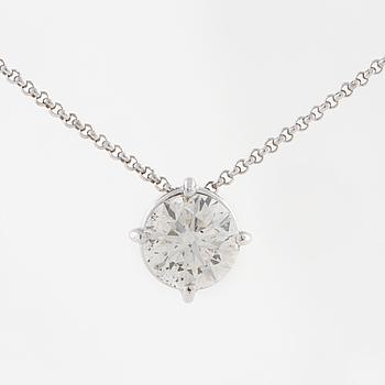 HÄNGE, med briljantslipad diamant ca 1.10 ct.