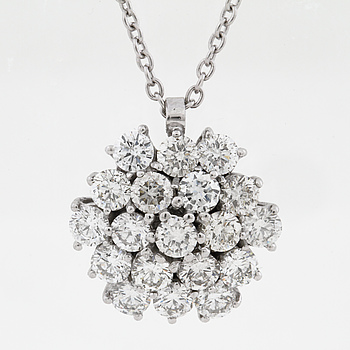 HÄNGE, med briljantslipade diamanter ca 2.10 ct, Milano, Italien.