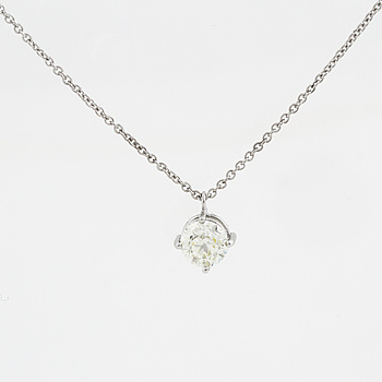 HÄNGE, med briljantslipad diamant 1,01 ct.