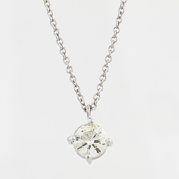 HÄNGE, med briljantslipad diamant ca 0.55 ct.