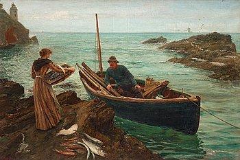 "399. Charles Napier Hemy, ""The fisherman's sweetheart""."