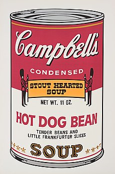 """176. Andy Warhol, """"Hot Dog Bean"""" from """"Campbell's Soup II""""."""