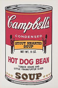 "176. Andy Warhol, ""Hot Dog Bean"" från ""Campbell's Soup II""."