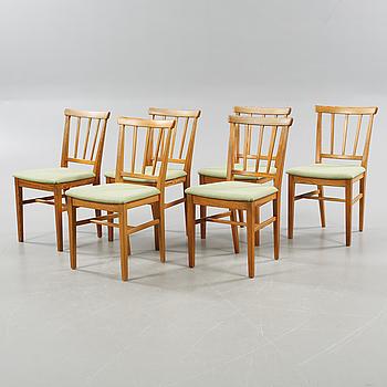CARL MALMSTEN, stolar, 6 st, 1900-talets andra hälft.