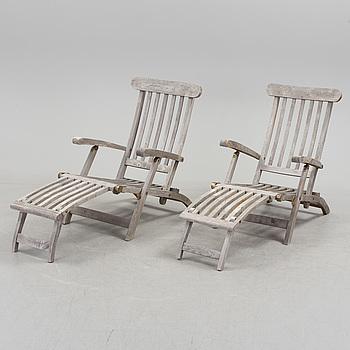 DÄCKSTOLAR, ett par, Scandinavian Design Jutlandia, 1900-talets slut.