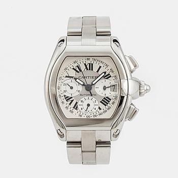 CARTIER, Roadster, chronograph, wristwatch, 42,5 x 38 mm,