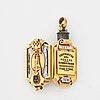 Fabergé, jubileumsberlock för branobel, guld, emalj och silver, verkmästare fedor afanassiev s:t petersburg ca 1890.
