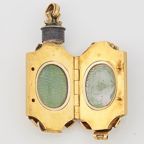 A fabergé gold, enamel and silver nobel jubelee locker, workmaster fedor afanassiev, st petersburg, circa 1890.
